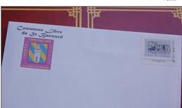 Commune Libre De Saint Barnard Romans Sur Isère 26 Drome Enveloppe + Timbre - Personalizzati (MonTimbraMoi)