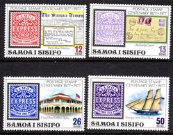 SAMOA - 1977 STAMP ANNIVERSARY SET (4V) FINE MNH ** SG 488-491 - Samoa