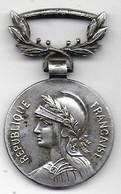 Médaille Coloniale En Bronze Argenté - Bélière Biface - Poinçons Triangle Et Bronze Sur La Tranche - Non Classificati