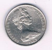 20 CENTS 1967  NIEUW ZEELAND /8560/ - Nieuw-Zeeland
