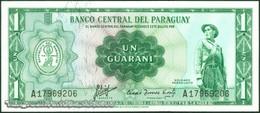 TWN - PARAGUAY 193a2 - 1 Guaranie L.1952 (1963) Prefix A UNC - Paraguay