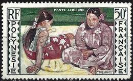 French Polynesia 1958 - Mi 11 - YT Pa 2 ( Women Of Tahiti By Paul Gauguin ) Airmail - Ohne Zuordnung