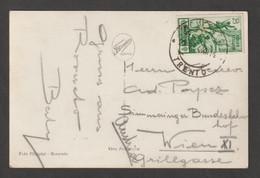 REGNO:  27-9-1934  MEDAGLIE  -  25 C. VERDE  SU  CARTOLINA  PER  L' ESTERO  -  I°  MESE  DI  VALIDITA'  -  SASS. 369 - Storia Postale