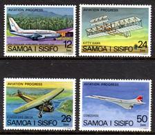 SAMOA - 1978 AVIATION PROGRESS SET (4V) FINE MNH ** SG 501-504 - Samoa