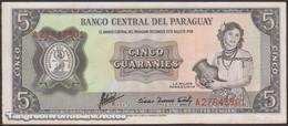 TWN - PARAGUAY 195b - 5 Guaranies L.1952 (1963) Prefix A UNC - Paraguay
