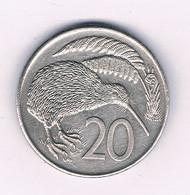 20 CENTS 1982  NIEUW ZEELAND /8565/ - Nieuw-Zeeland