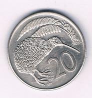 20 CENTS 1985  NIEUW ZEELAND /8566/ - Nieuw-Zeeland