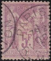 France    .  Y&T  . 95  (2 Scans)  Avec Peu De Papier Sur Le Dos      .      O    .     Oblitéré   .   /   .   Cancelled - 1876-1898 Sage (Type II)