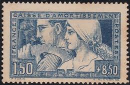 France    .  Y&T  .   252  (2 Scans)    .     (*)    .    Pas De Gomme   .   /   .   No Gum - Ungebraucht
