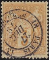 France    .  Y&T  .   86      .      O    .     Oblitéré   .   /   .   Cancelled - 1876-1898 Sage (Type II)