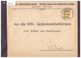 BERNE - SOCIETE SUISSE DES INDUSTRIELS FORAINS - RIEN AU DOS - VOIR IMAGE POUR LES DETAILS - Briefe U. Dokumente