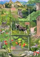 Kazakhstan   2020   Altai Nature Reserve  Fauna Flora  S/S   MNH - Kazakhstan