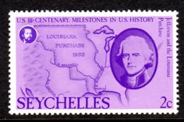 SEYCHELLES - 1976 AMERICAN REVOLUTION ANNIVERSARY 2c STAMP FINE MNH ** SG 384 - Seychellen (1976-...)