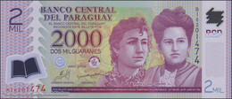 TWN - PARAGUAY 228b - 2000 2.000 Guaranies 2009 Polymer - Prefix B UNC - Paraguay