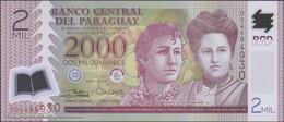 TWN - PARAGUAY 228d - 2000 2.000 Guaranies 2017 (2018) Polymer - Prefix D UNC - Paraguay