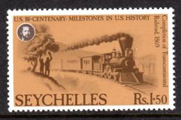 SEYCHELLES - 1976 AMERICAN REVOLUTION ANNIVERSARY 1R 50c STAMP FINE MNH ** SG 388 - Seychellen (1976-...)