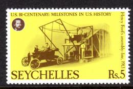 SEYCHELLES - 1976 AMERICAN REVOLUTION ANNIVERSARY 5R STAMP FINE MNH ** SG 390 - Seychellen (1976-...)