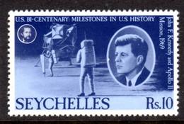 SEYCHELLES - 1976 AMERICAN REVOLUTION ANNIVERSARY 10R STAMP FINE MNH ** SG 391 - Seychellen (1976-...)