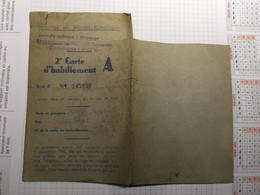 20BH - Carte Habillement Commune De Pry Ravitaillement Rationnement Guerre 1942 - Autres