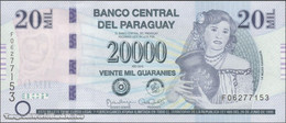 TWN - PARAGUAY 238a - 20000 20.000 Guaranies 2015 Prefix F UNC - Paraguay