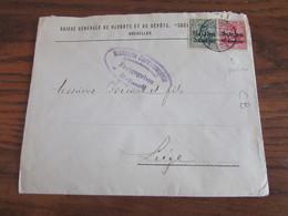 14-18: 4 Lettres (dont Un Recommandé) Oblitérées BXL 1 Et PERFOREES C.B. (timbres Différents) + Censure - Andere Brieven