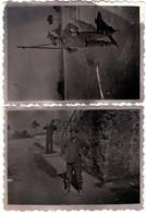 2 Photos Originales Grisée - Portrait De Mineurs De Fond En Sortie De Mine Vers 1940/50 - Professions