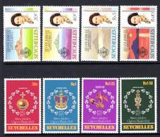 SEYCHELLES - 1977 SILVER JUBILEE SET (8V) FINE MNH ** SG 393-400 - Seychellen (1976-...)