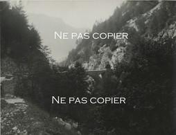 Gorges De La BOURNE Pont De La Goule Noire Grande Photo 21 X 28 Cm Isère Montagne Alpes - Plaatsen
