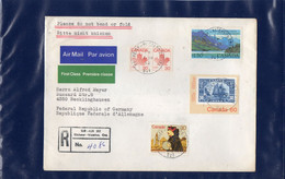 ##(DAN210)- CANADA  1982- Airmail Registered Cover From Kitchener To Recklinghausen-West Germany - Lettres & Documents