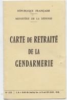 Carte Retraite Gendarmerie,, Bordeaux 1974,Colonel Henry, Gendarme  Poussy Né à Auterive 31 - Police & Gendarmerie