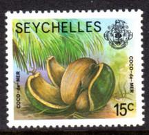 SEYCHELLES - 1977-1984 COCO-DE-MER 1978 15c STAMP NO IMPRINT DATE FINE MNH ** SG 406A - Seychellen (1976-...)