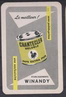 Coq  Speelkaart - Carte à Jouer -  Dos Pub Peinture CHANTECLER _  Ets. WINANDY - Kartenspiele (traditionell)
