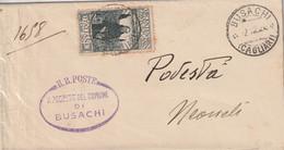 Busachi. 1926. Annullo Guller BUSACHI (CAGLIARI) + Ovale COMUNE, Su Lettera Con VII Centenario Francescano C.30, Isolato - Storia Postale
