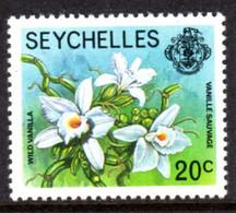 SEYCHELLES - 1977-1984 WILD VANILLA ORCHID 1978 20c STAMP NO IMPRINT DATE FINE MNH ** SG 407A - Seychellen (1976-...)