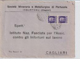 Ingurtosu. 1942. Annullo Guller INGURTOSU (CAGLIARI), Su Lettera Dalla MINIERA DI PERTUSOLA - Storia Postale