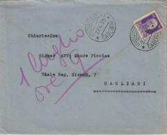Ingurtosu. 1939. Annullo Guller INGURTOSU *CAGLIARI*, Su Lettera Affrancata Con Imperiale C.50 - Storia Postale