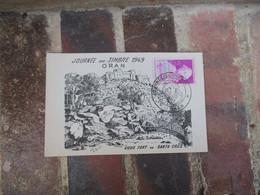 1949 Oran Journee Du Timbre  Vieux Fort Carte Maximum - 1921-1960: Periodo Moderno