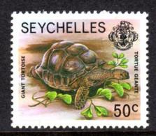 SEYCHELLES - 1977-1984 GIANT TORTOISE 1977 50c STAMP NO IMPRINT DATE FINE MNH ** SG 410A - Seychellen (1976-...)