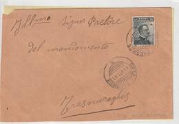 1907. Annullo Ambulante BOSA - MACOMER , Su Lettera Con C.15 Michetti - Storia Postale