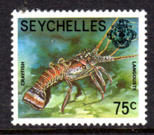 SEYCHELLES - 1977-1984 CRAYFISH 1978 75c STAMP NO IMPRINT DATE FINE MNH ** SG 411A - Seychellen (1976-...)