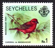 SEYCHELLES - 1977-1984 MADAGASCAR RED FODY BIRD 1977 1R STAMP NO IMPRINT DATE FINE MNH ** SG 412A - Seychellen (1976-...)