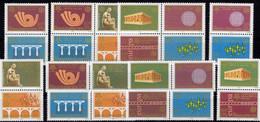 CEPT 2006 Serbien 8ZD+2xVB A ** 48€ Stamps On Stamp YU 1361 1380 1417 1457 1508 1458 1558 2047 Se-tenants Bf EUROPA - Verzamelingen (zonder Album)