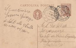 Alghero. 1933. Annullo Guller ALGHERO POSTA *SASSARI*, Su Cartolina Postale. Annullo Di Arrivo SASSARI (CENTRO) F - Storia Postale