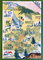 Carte Géographique Des Chantiers De Jeunesse Française CJF - PC LES NOÉS, St RIRAND, RENAISON, ARCON, Forêt De L'Assise - Other Municipalities