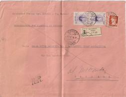 Alghero. 1938. Annullo Guller ALGHERO *SASSARI*, Su Raccomandata  R R, Rimandata Al Mittente - Storia Postale