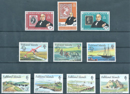Falkland Islands,1979-1980  Anniversary Of The Rowland Hill & Anniversary Of U.P.U. & Early Settlements, MNH - Falklandinseln