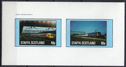 TRENES/STAFFA (Isla En La Costa Oeste De Escocia) - MNH ** Sin Dentar - Treinen