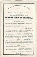 THUMAIDE - Julie Aimée ERREMBAULT Du MAISNIL - Décédée Au Château 1863 - Devotieprenten