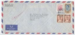 Thailand 1962 Airmail Cover Bangkok To Ithaca NY, Scott 285, 385, 378 - Thailand