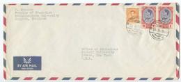 Thailand 1963 Airmail Cover Bangkok, Chulalongkorn University To Ithaca NY Cornell University - Thailand